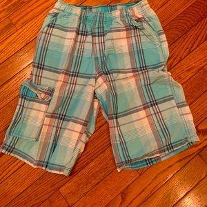 Boys s plaid shorts size 16
